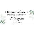 Naklejki etykiety na słoiczki z miodem komunia podziękowanie dla gości rustykalne botaniczne