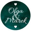 Naklejki etykiety okrągłe na słoiczki z miodem ślub wesele podziękowanie dla gości imiona butelkowa zieleń