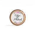 Naklejki etykiety okrągłe na słoiczki z miodem ślub wesele podziękowanie dla gości imiona kwiatowe glamour