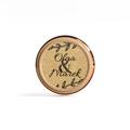 Naklejki etykiety okrągłe na słoiczki z miodem ślub wesele podziękowanie dla gości imiona eco eko liście