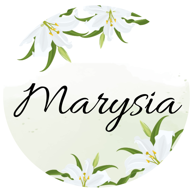 Naklejki etykiety okrągłe z imieniem na słoiczki z miodem komunia podziękowanie dla gości kwiatowe białe kwiaty