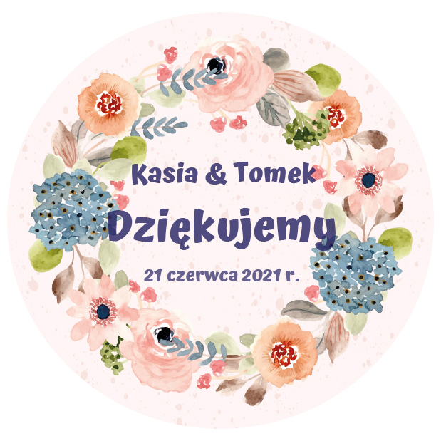 Pikery toppery na babeczki tort weselny personalizowane ślub wesele kwiaty boho pastelowe