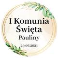 Pikery toppery na babeczki tort personalizowane komunia rustykalne hostia
