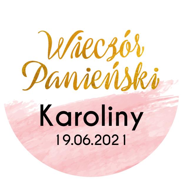 Toppery pikery różowe złoto wieczór panieński personalizowane imię złote różowe glamour