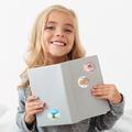 Naklejki motywacyjne dla dzieci szkolne naklejki z imieniem dziecka super ośmiornica