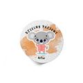 Naklejki dzielny pacjent dla dzieci z imieniem koala