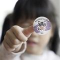 Naklejki dzielny pacjent dla dzieci z imieniem szop pracz