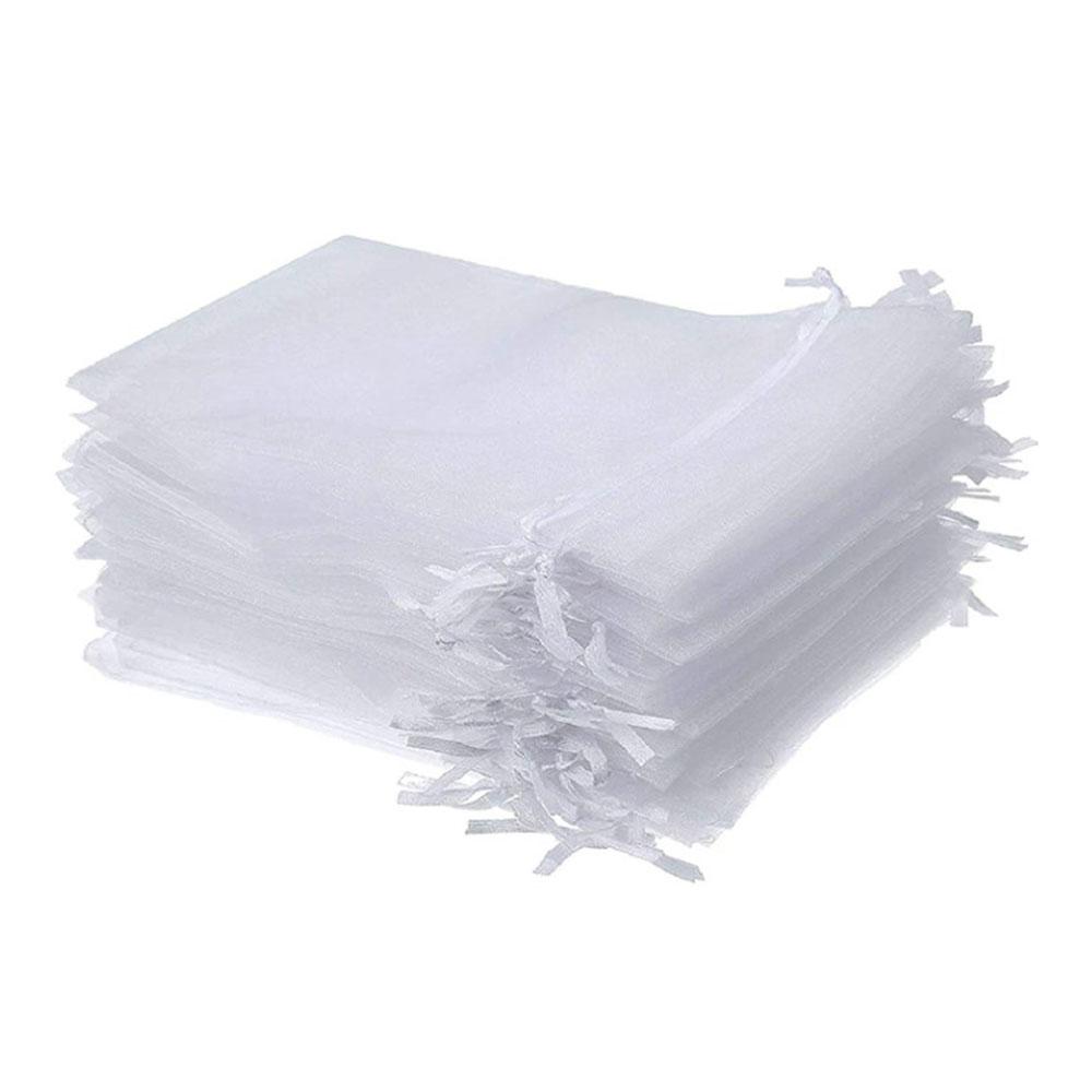 Woreczki z organzy białe 10x15 cm 10 sztuk