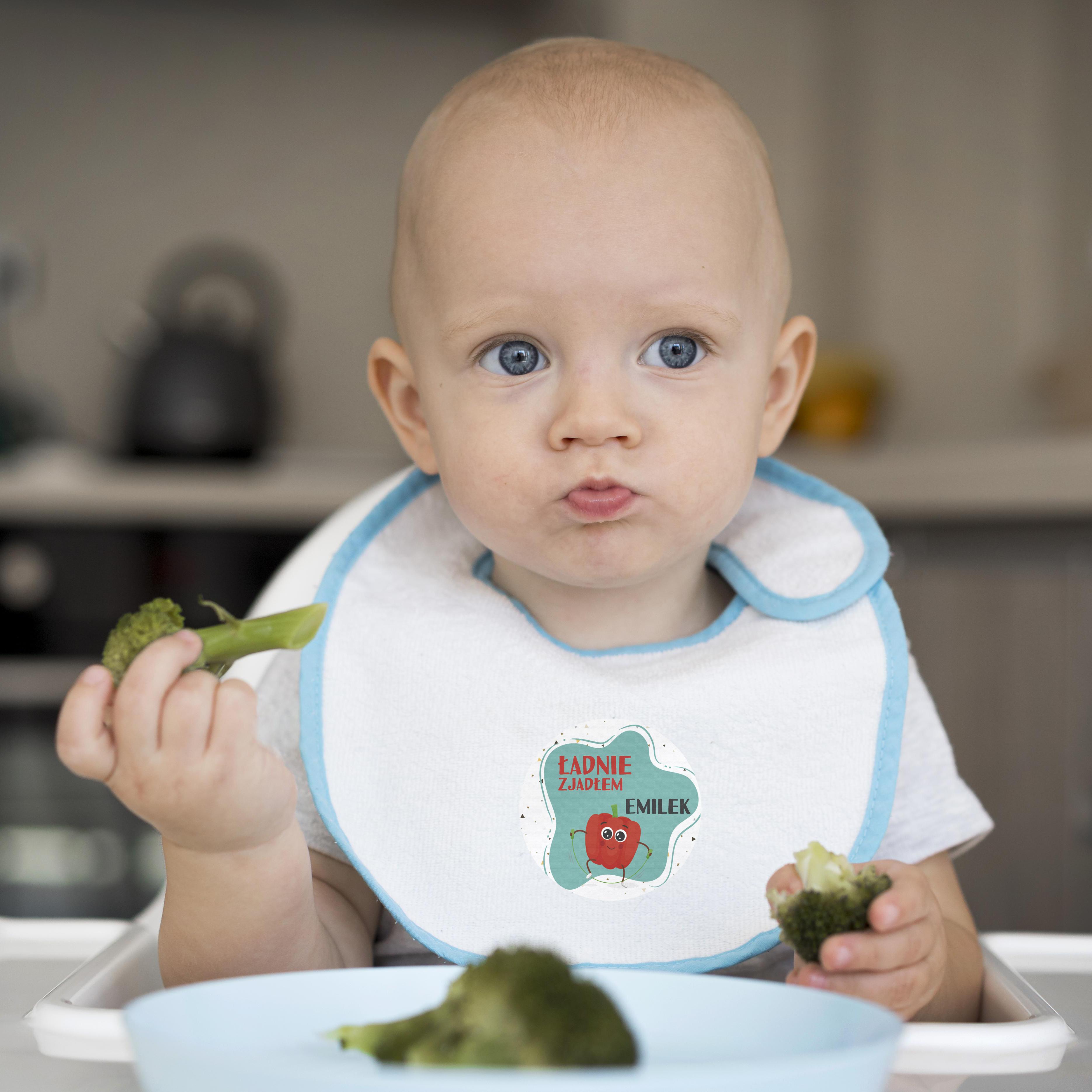 Naklejki nagrody motywacyjne dla dzieci ładnie zjadłem papryka