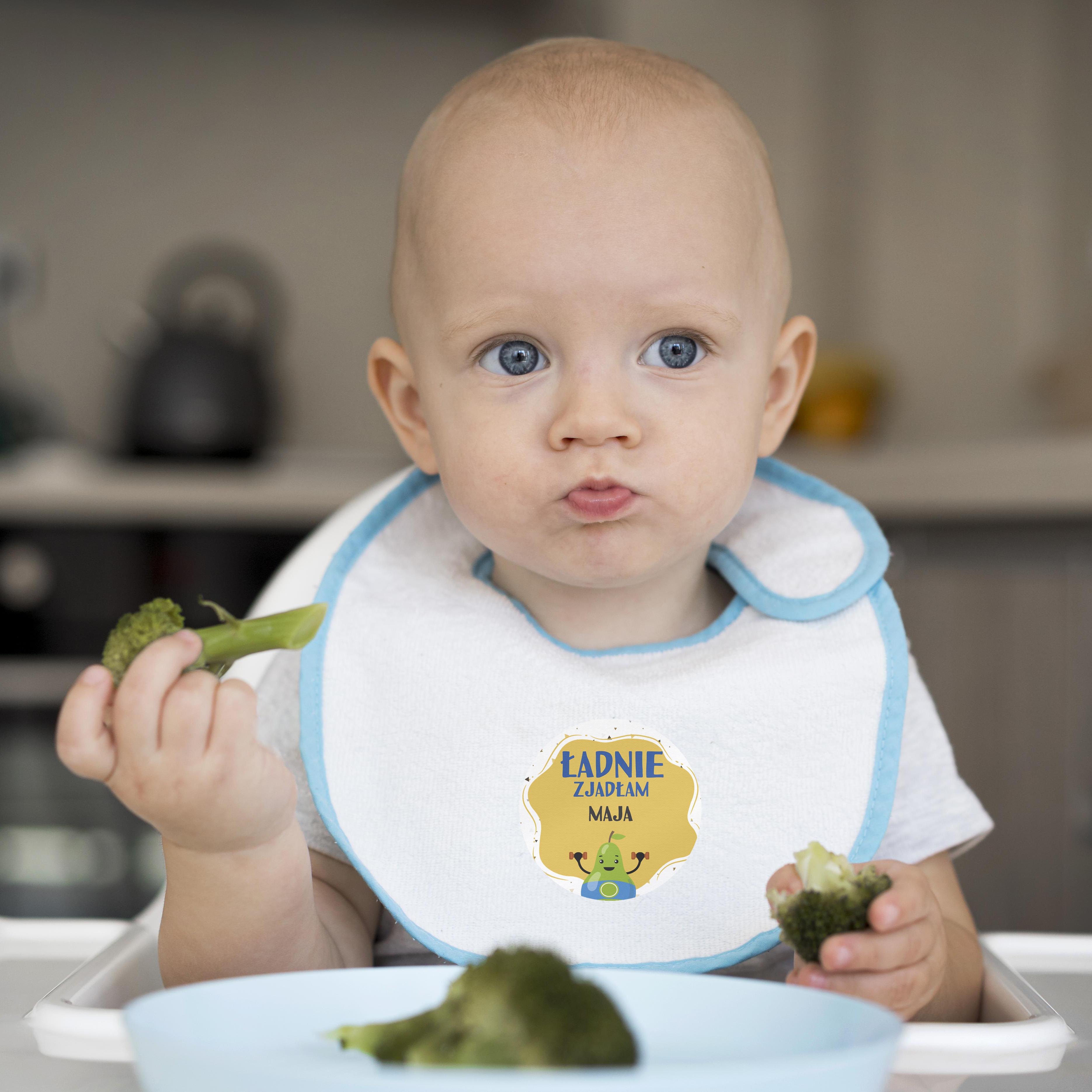 Naklejki nagrody motywacyjne dla dzieci ładnie zjadłem gruszka