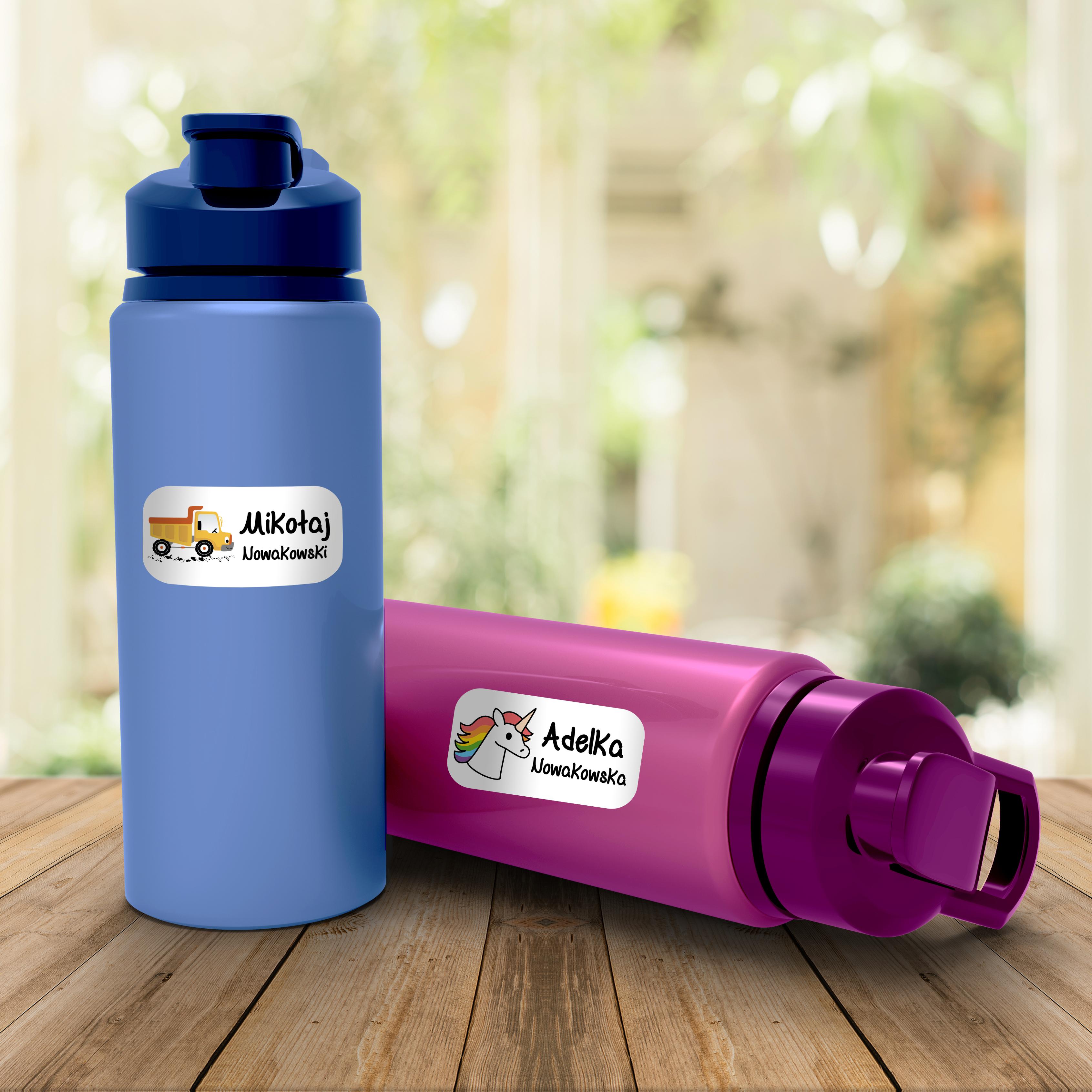 Naklejki szkolne imienne wodoodporne imienniki na przybory szkolne metki twój własny nadruk