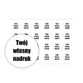 Naklejki szkolne imienne okrągłe wodoodporne imienniki na przybory dla uczniów własny nadruk wzór