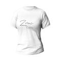 Rozmiar M - koszulka damska z własnym nadrukiem dla żony - biała