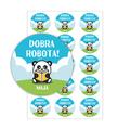 Naklejki motywacyjne dla dzieci szkolne naklejki z imieniem dziecka dobra robota panda