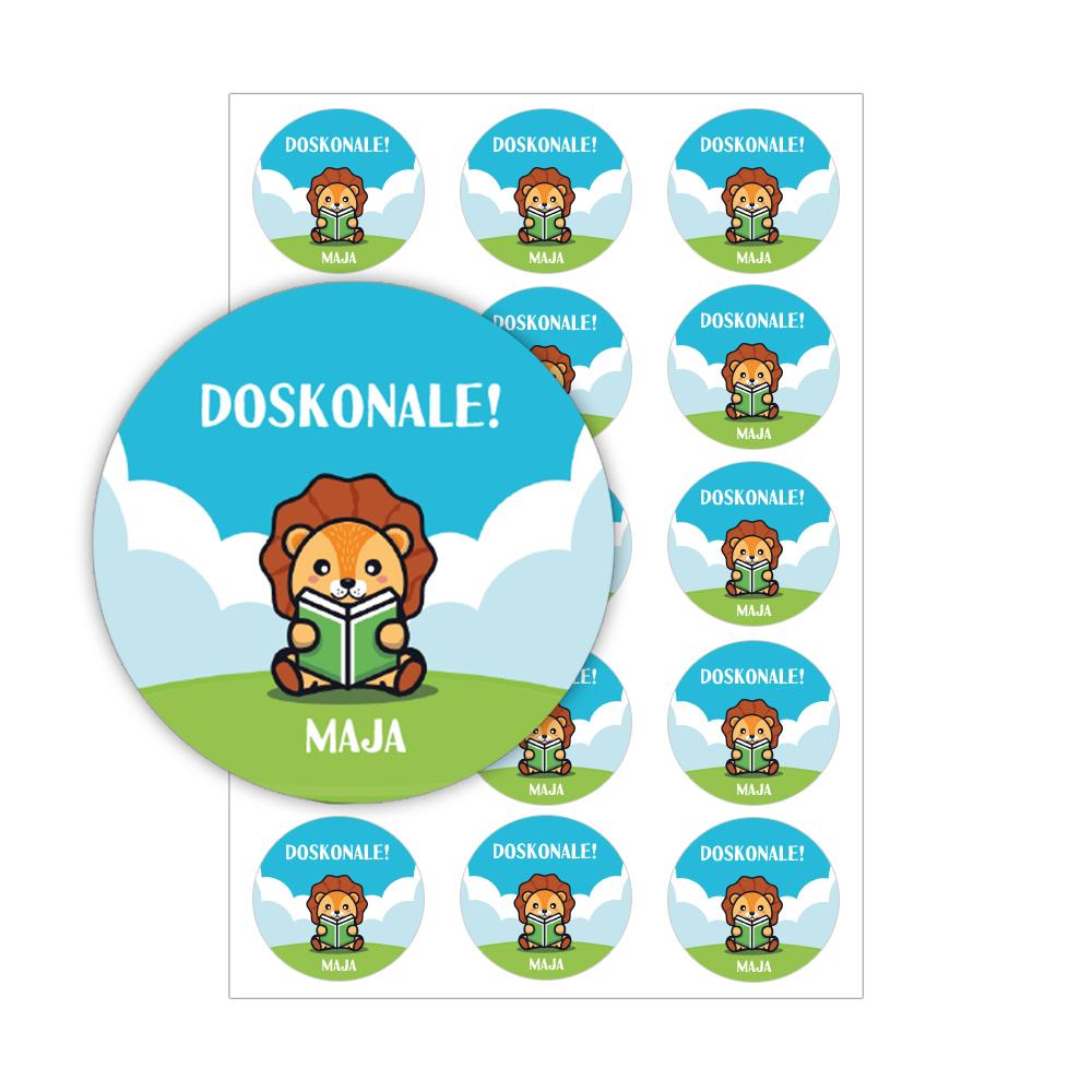 Naklejki motywacyjne dla dzieci szkolne naklejki z imieniem dziecka doskonale wiewiórka