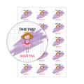 Naklejki motywacyjne dla dzieci szkolne naklejki z imieniem dziecka świetnie księżniczka