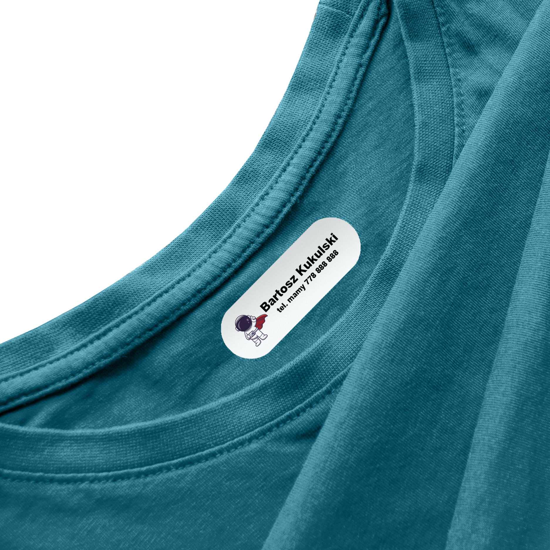Naprasowanki na ubrania naprasowanka imienna metki dla dziecka kosmonauta