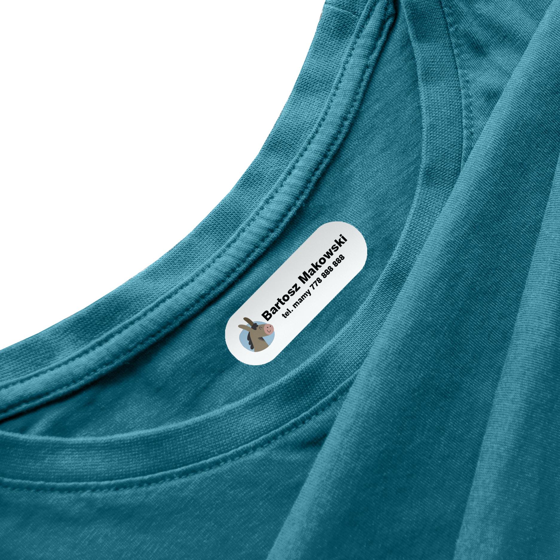 Naprasowanki na ubrania naprasowanka imienna metki dla dziecka osiołek