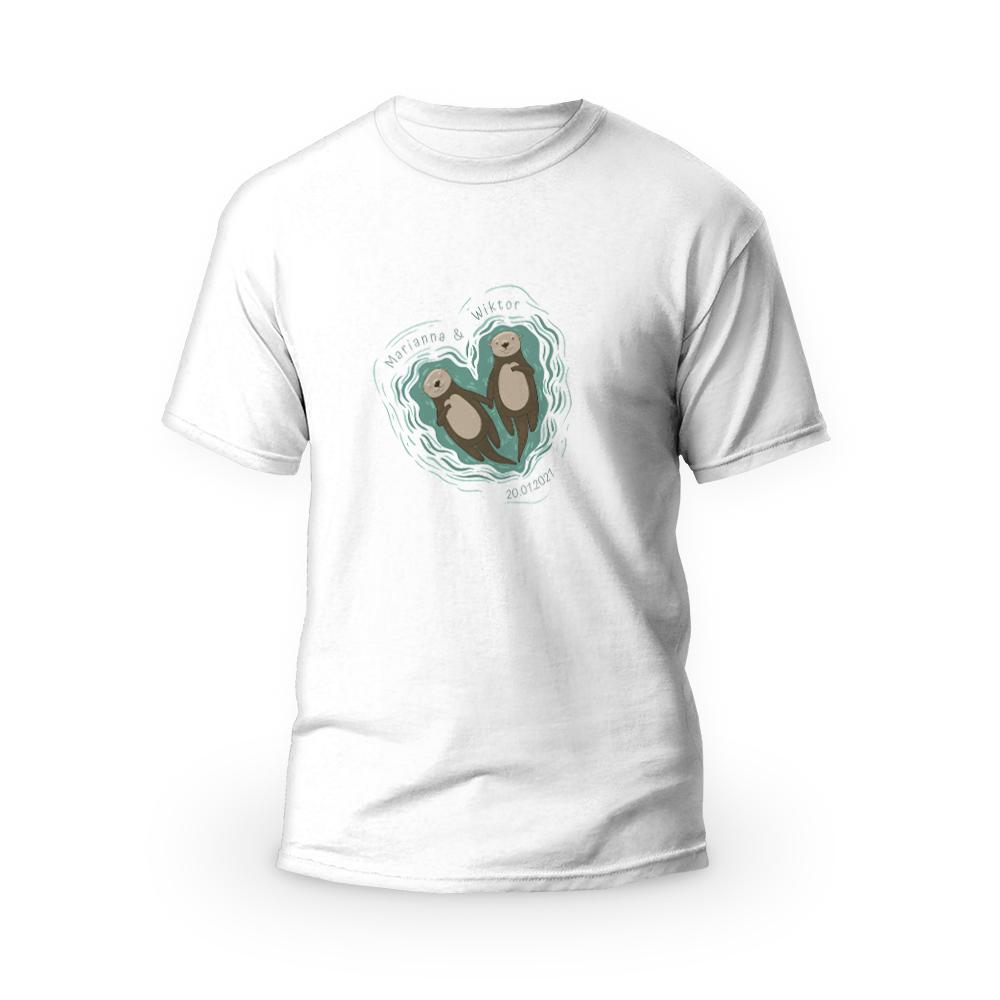 Rozmiar L - koszulka męska dla chłopaka Zakochane Wyderki