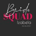 Rozmiar XL - koszulka damska na wieczór panieński bride squad