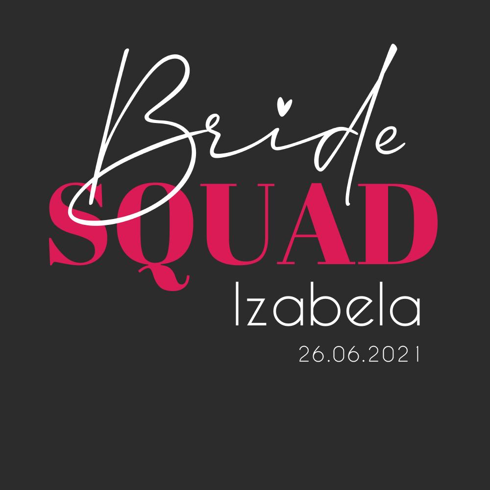 Rozmiar XXL - koszulka damska na wieczór panieński bride squad