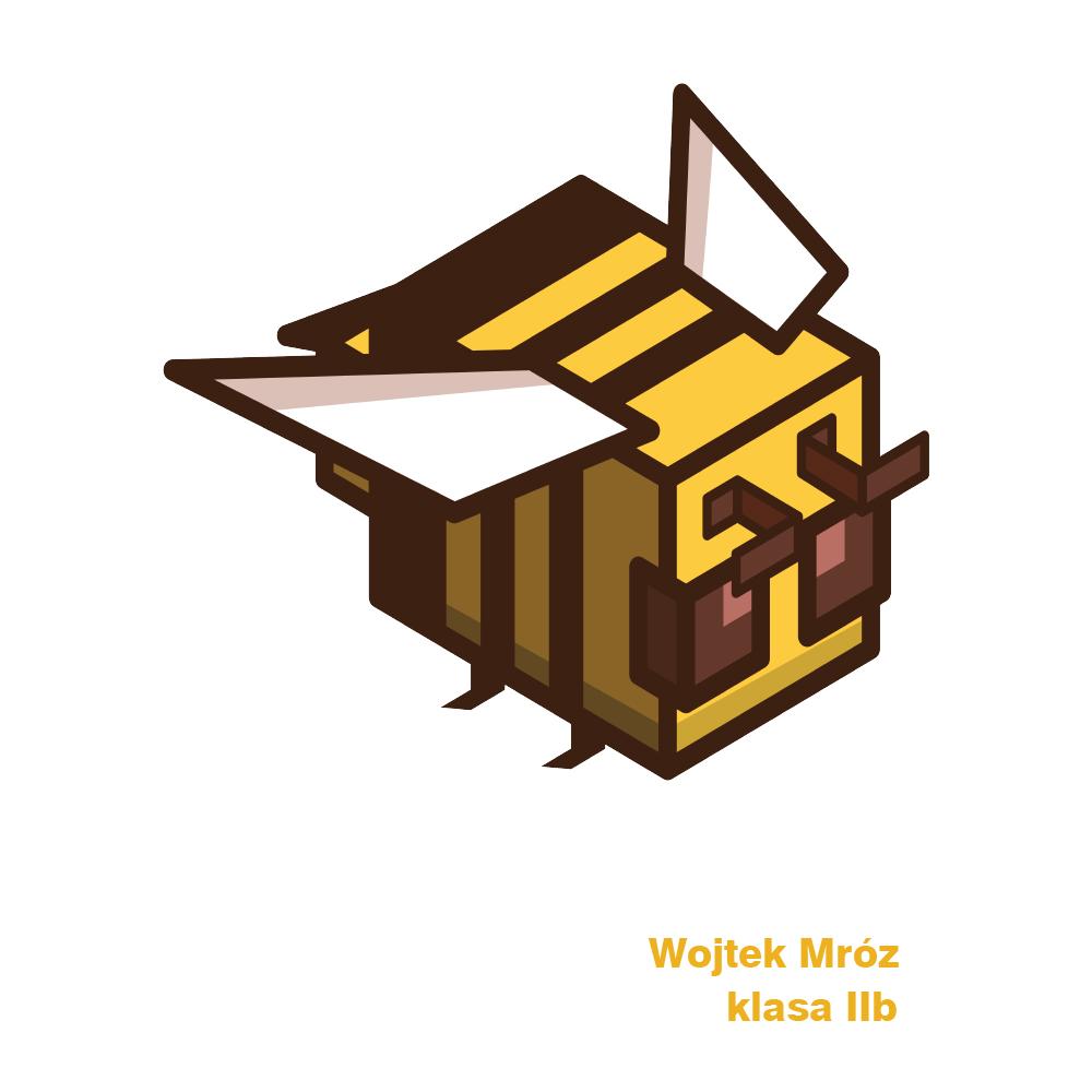 Worek plecak do przedszkola na buty z imieniem dziecka pixel gra pszczoła