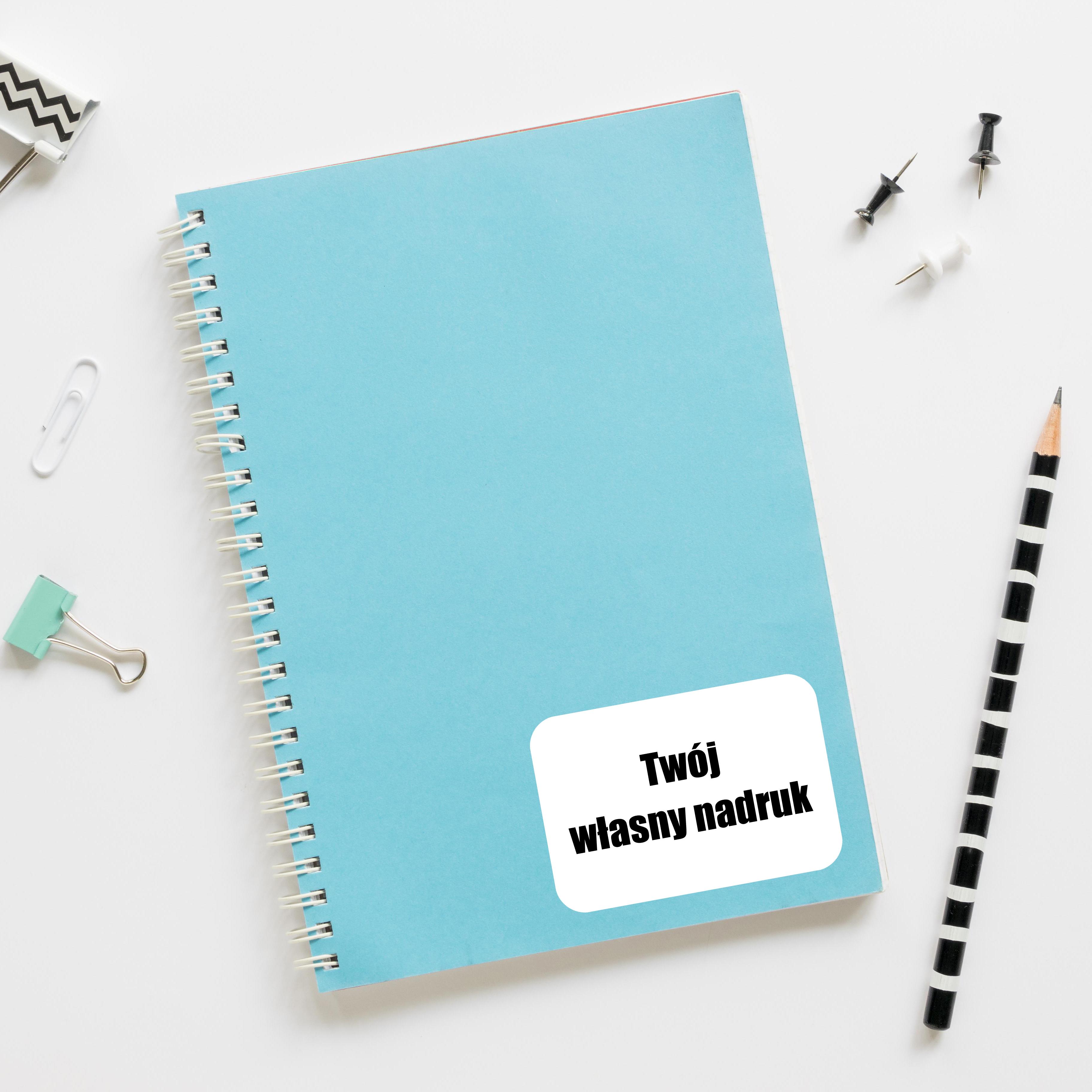 Naklejki na zeszyt książki podręczniki nalepki imienne etykiety personalizowane Twój własny nadruk