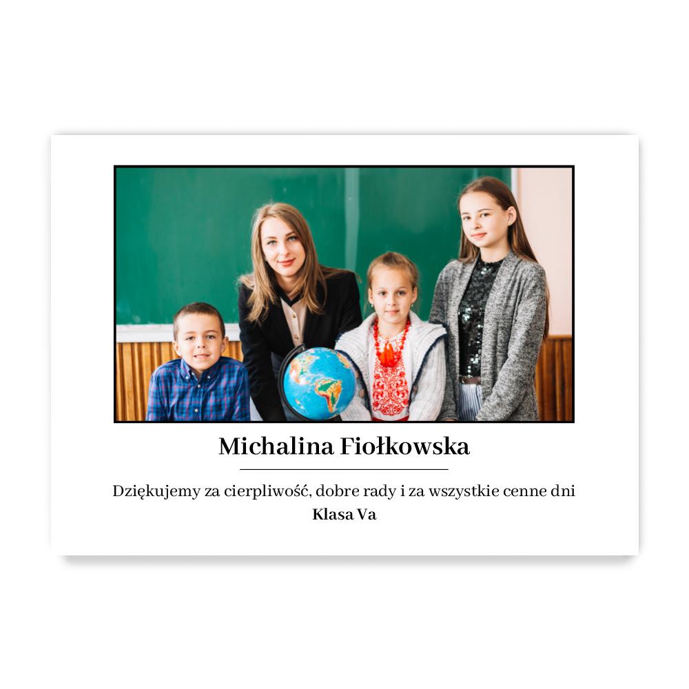 Plakat ze zdjęć do ramki ikea 50x70 dla nauczyciela prezent na dzień nauczyciela
