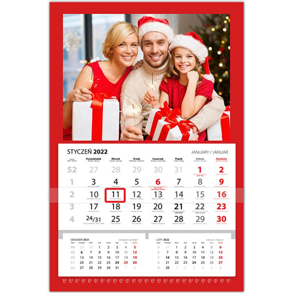 foto Kalendarz na prezent na święta jednodzielny