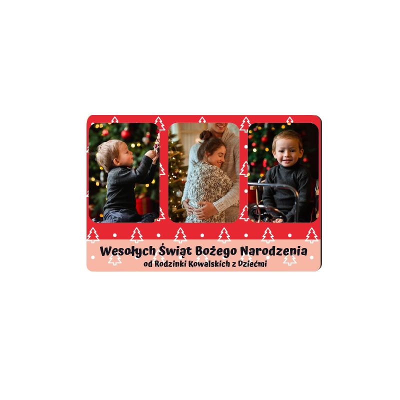 foto Magnes na prezent na Boże Narodzenie 10x7 cm