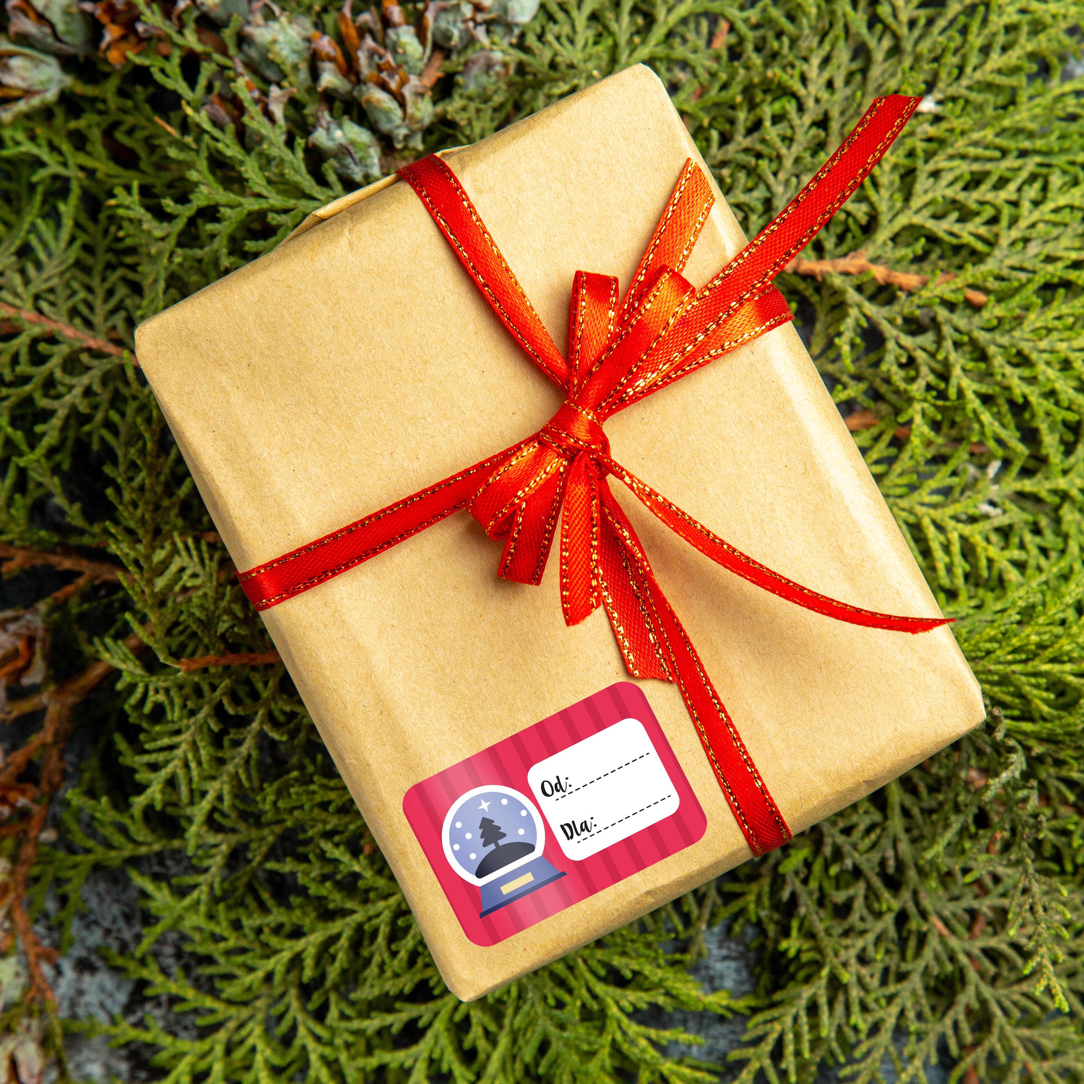 Naklejki świąteczne na prezenty twój podpis mix wzorów zestaw_3